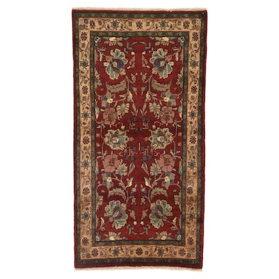 3'4 x 6'5 Hand-Knotted Persian Mahal Area Rug, 1960s
