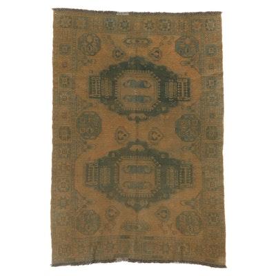 5'2 x 7'8 Handwoven Caucasian Soumak Area Rug, 1930s