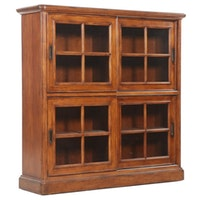 "Sligh ""Ellis"" Collection Glass Front Bookcase, Late 20th Century"