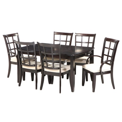Contemporary Espresso Finish Dining Set