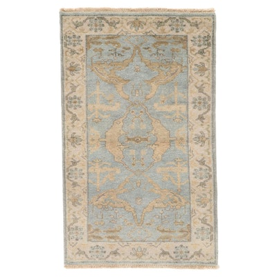3'2 x 5'3 Hand-Knotted Indo-Turkish Oushak Area Rug, 2010s