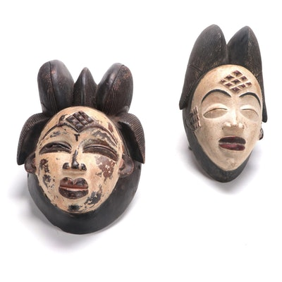 Punu Style Wooden Masks, Central Africa