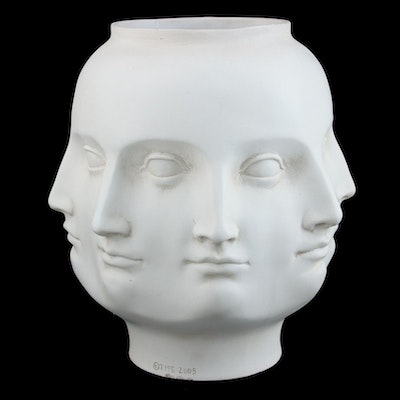 TMS Ceramic Perpetual Face Vase after Piero Fornasetti, 2005