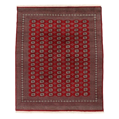 8'2 x 10'3 Hand-Knotted Pakistani Bokhara Turkmen Room Sized Rug, 2000s