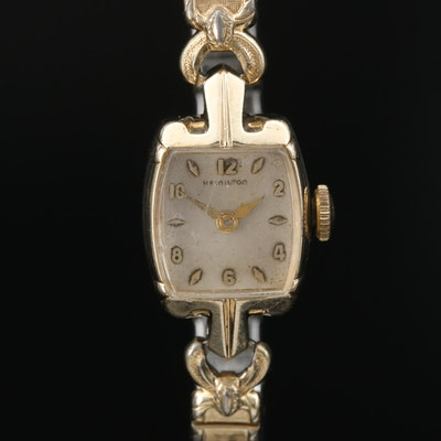 1950 Hamilton Sonya 10K Yellow Gold Stem Wind Wristwatch