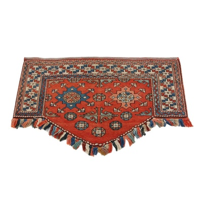 2'5 x 3'9 Hand-Knotted Turkish Azeri Village Rug Hanging, 1990s