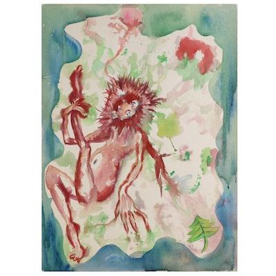 Kathleen Zimbicki Watercolor Painting, 21st Century