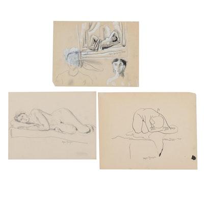 Edgar Yaeger Figure Drawings, circa 1934
