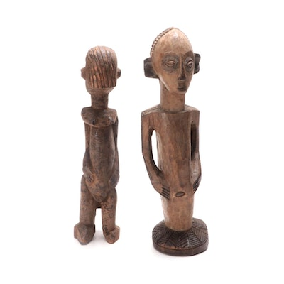 West African Style Carved Wood Sculptures