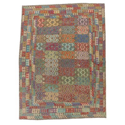 8'6 x 11'5 Handwoven Turkish Caucasian Kilim Area Rug, 2000s