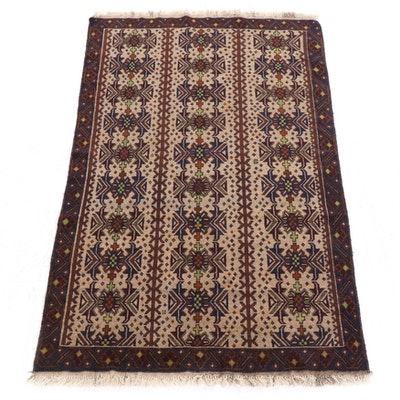 3'9 x 6'9 Hand-Knotted Area Rug