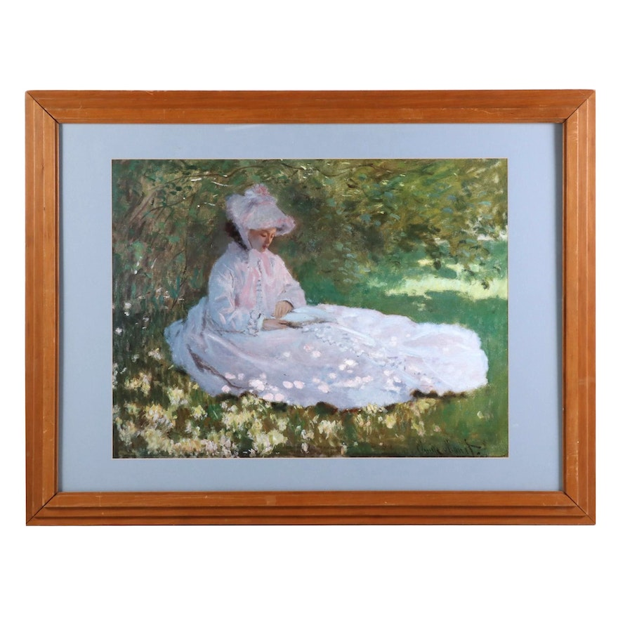 "Offset Lithograph after Claude Monet ""Springtime"""