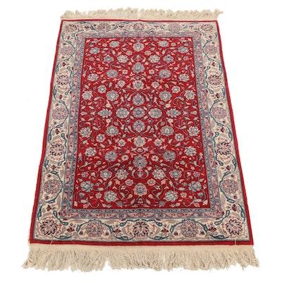 4'0 x 6'11 Hand-Knotted Pakistani Persian Tabriz Area Rug