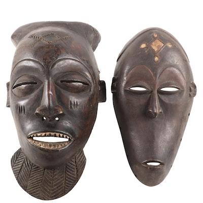 Central African Carved Wood Masks