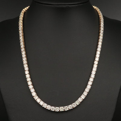 14K 32.21 CTW Diamond Rivière Necklace