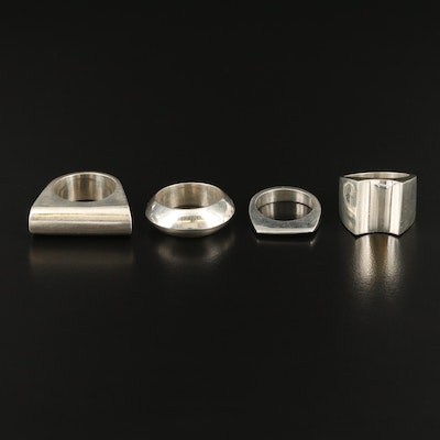 Post Modern Sterling Silver Rings