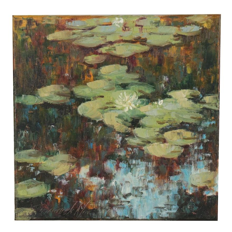 "Garncarek Aleksander Oil Painting ""In the Shade"""