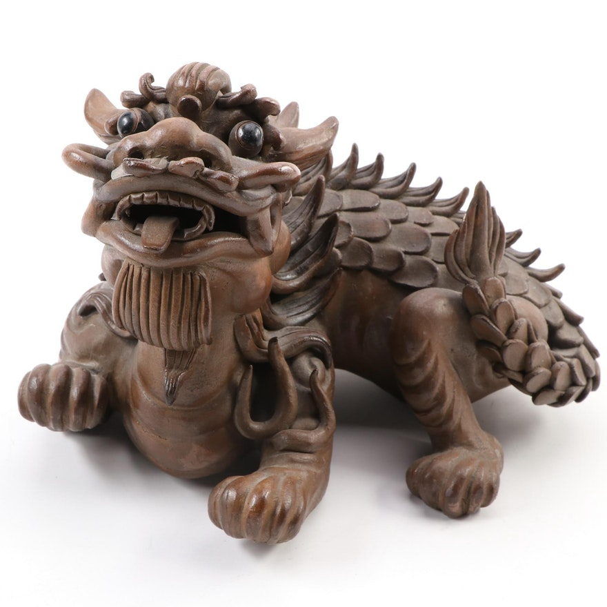 Chinese Ceramic Dragon Figurine