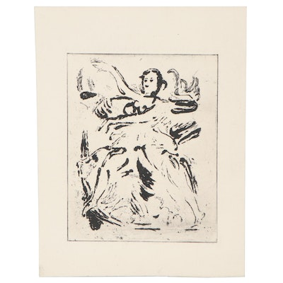 "Arthur Helwig Etching ""Ballet,"" Mid-20th Century"
