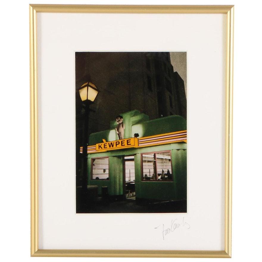 Color Photograph of Kewpee Hamburgers Diner, Mid-Late 20th Century