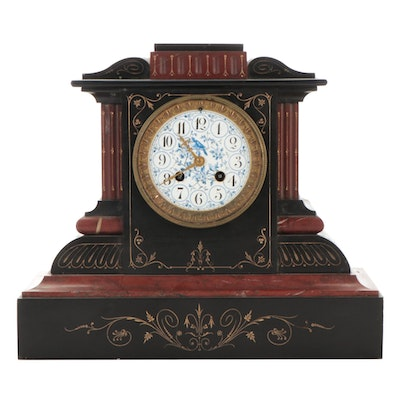 French Aesthetic Movement Mantel Clock, Late 19th Century