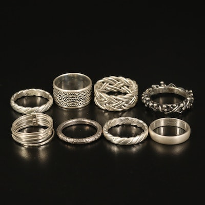Sterling Stackable Bands Including Semanario Ring