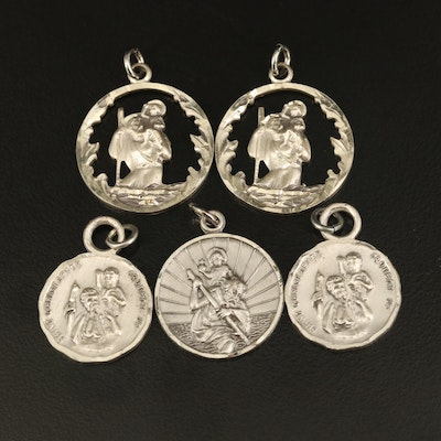 Sterling Saint Christopher Pendants