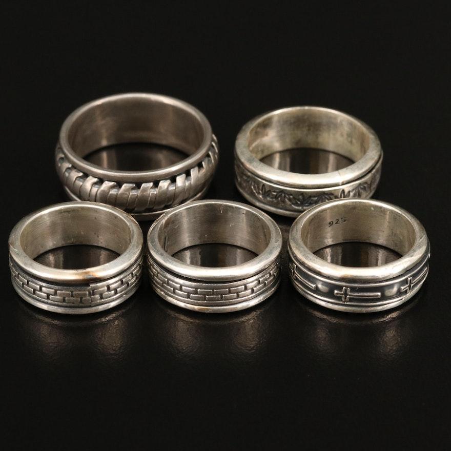 Sterling Spinner Rings