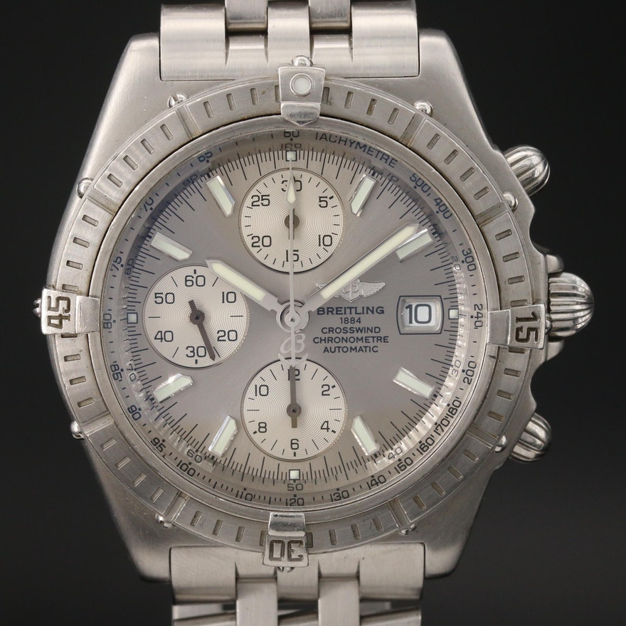 "Breitling ""Crosswind"" Chronograph Wristwatch with Date Window"