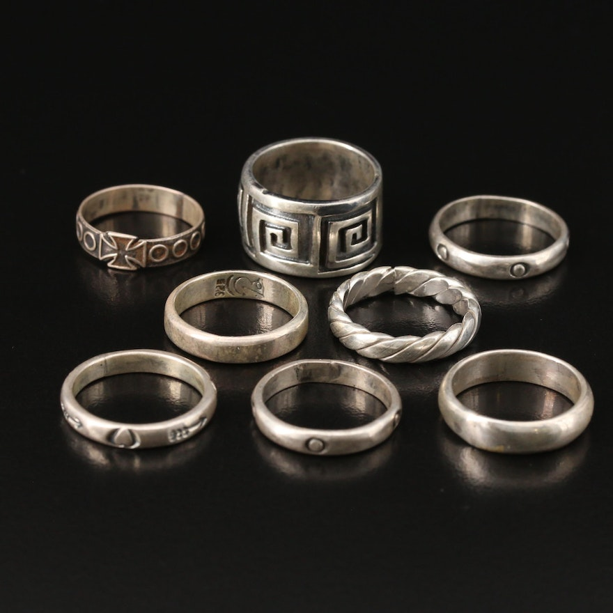 Sterling Silver Rings with Stampwork