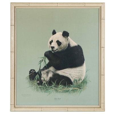 "Charles Fracé Offset Lithograph ""Giant Panda"""