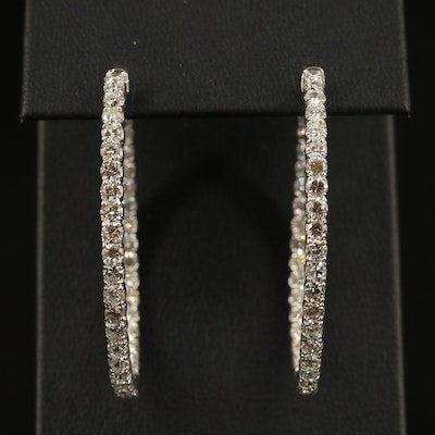 14K 5.07 CTW Diamond Inside-Out Hoop Earrings