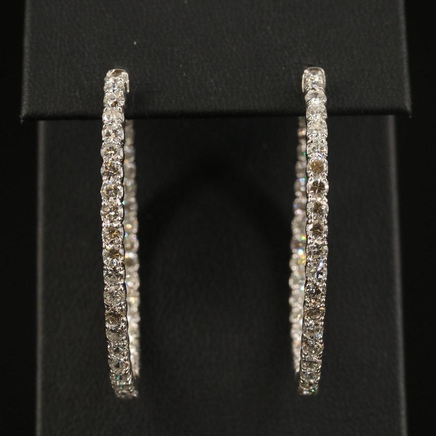 14K 5.07 CTW Diamond Inside-Out Hoop Earrings