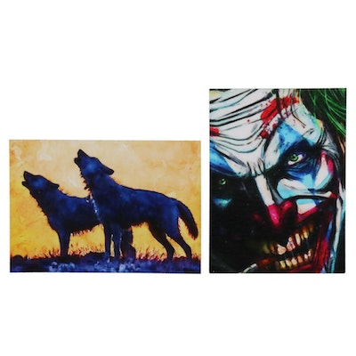 "William Rivera Giclée ""The Joker"" and ""Blue Wolves,"" 2021"