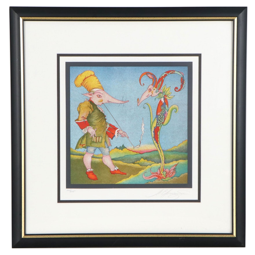 """Mihail Chemiakin Color Lithograph from the Series """"Carnaval de St. Petersbourg"""""""