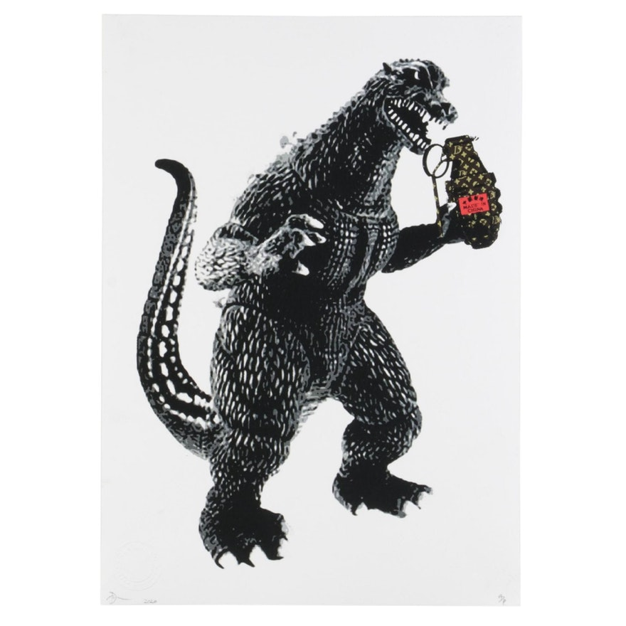Death NYC Godzilla Pop Art Graphic Print, 2020