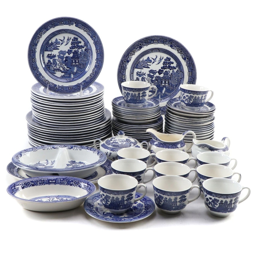 "Johnson Bros., Homer Laughlin, and Other ""Blue Willow"" Ceramic Dinnerware"