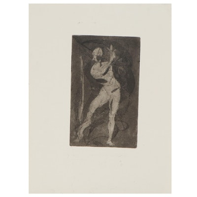"Arthur Helwig Etching ""Dancer,"" circa 1971"
