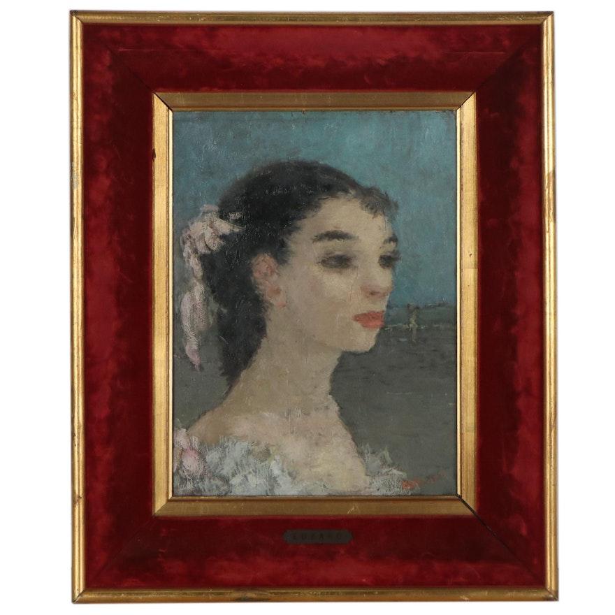 Dietz Edzard Oil Portrait of Ballerina