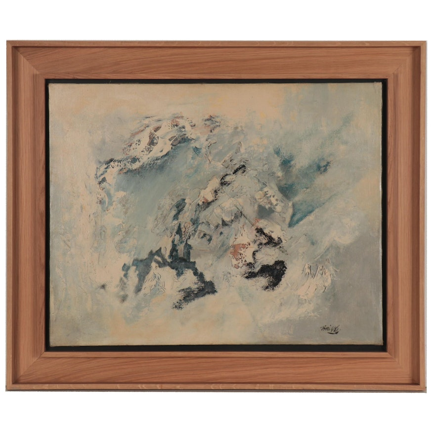Ernest Briggs Abstract Oil Painting, circa 1950