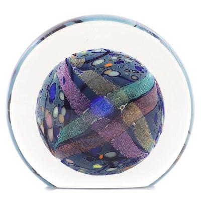 Rollin Karg Art Glass Discus
