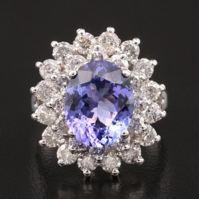 14K 3.40 CT Tanzanite and 1.96 CTW Diamond Ring