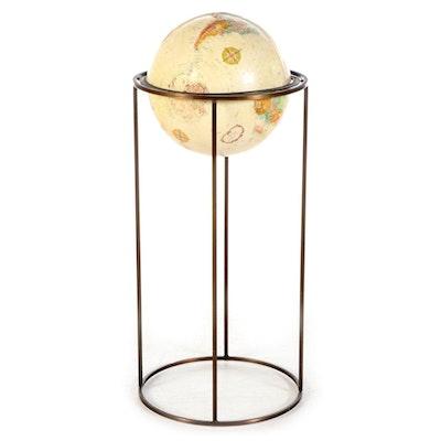 "Mid Century Modern Paul McCobb Replogle 12"" World Classic Series Globe on Stand"