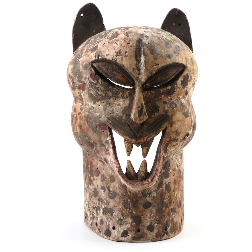 Central African Style Wood Leopard Mask