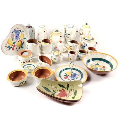 Stangl Pottery and Other Earthenware Dinnerware and Table Accessories