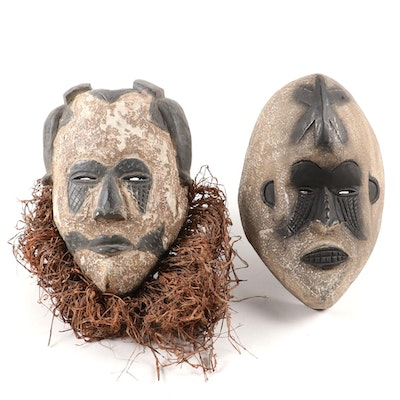 Igbo-Idoma Style Wood Masks, West Africa