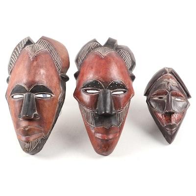 Tikar Style Wood Masks, Cameroon