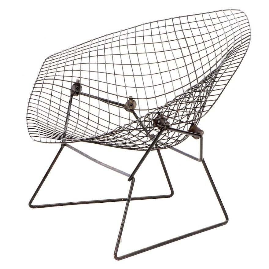 """Harry Bertoia for Knoll Large """"Diamond"""" Lounge Chair, 1960s"""