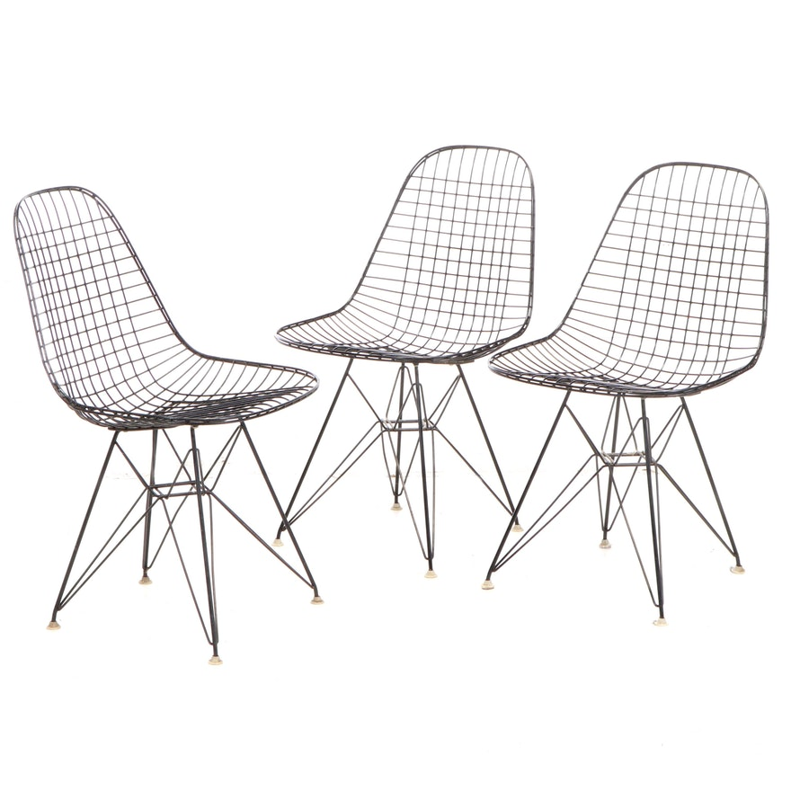 """Three Charles and Ray Eames Third Generation DKR """"Eiffel"""" Wire Frame Chairs"""
