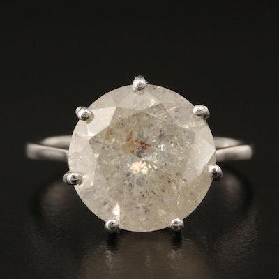 Platinum 5.60 CT Diamond Solitaire Ring